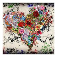 DIY 5D Full Drill Heart Flowers Diamond Embroidery Painting Art Craft Home Decor