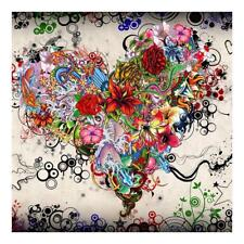 Full Drill Heart Flowers 5D Diamond DIY Painting Craft Home Wall Hanging Decor