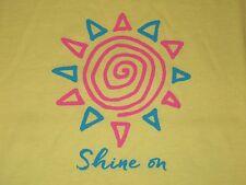 NWT Life is Good SHINE ON Mellow Yellow SUN Sunshine S/S T-SHIRT Women XL NEW