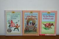 Laura Ingalls Wilder Little House on the Prairie Book lot of 3 Vintage Paperback