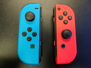 New Nintendo Switch Joy Con Pair Neon Red and Neon Blue