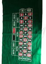 "Roulette Casino Gaming Table Top 36"" x 72"" Felt Las Vegas Casino Cover Mat DIY"