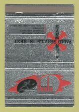 Matchbook Cover - Paulo Service Metal Heat Treating St Louis MO WEAR 40 Strike