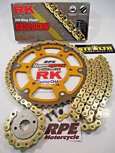 '91-96 Honda CBR600 F2/F3 RK GXW Gold 520 QA SuperSprox Chain and Sprocket Kit