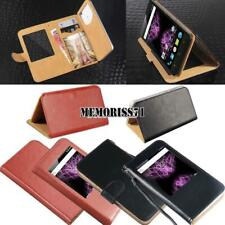 For Various Cubot SmartPhones - Flip View Window Cover Stand Wallet Leather Case