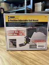 MaxxHaul 70067 8-Position Adjustable Ball Mount - 5000 lbs. Gtw Capacity