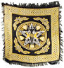 Pentagram Goddess & Celtic Knots Wicca Pagan 18x18 Altar Tarot Side Table Cloth