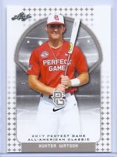 """HUNTER WATSON 2017 """"1ST EVER PRINTED"""" PERFECT GAME AAC ROOKIE CARD!"""
