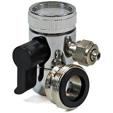 """Umschaltventil Wasserhahnanschluss für 1/4"""" 6 mm Schlauch Osmose inkl. Adapter"""