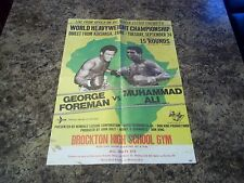 MUHAMMAD ALI RUMBLE IN THE JUNGLE 1974 ALI FOREMAN COLOURED  POSTER