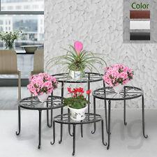 Metal Flower Pot Rack Plant Display Stand Shelf Holder Garden Decor Wrought Iron