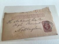 London to National Lace Co Nottingham 1892 wrapper Ref R25602