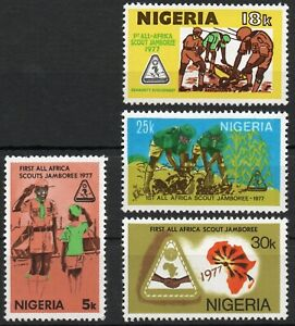 Nigeria 1977, 1st All-Africa Scout Jamboree,  SG 369-372,  full set MNH**