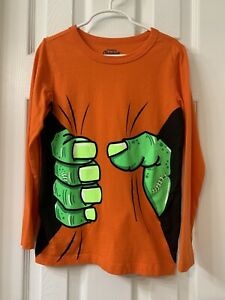 Boys OshKosh Long Sleeve Halloween Glow In The Dark t-shirt Orange Size: 8