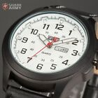 Shark Army Avenger Series Men Date Day Military Quartz Sport Leather Wrist Watch