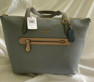 AUTHENTIC COACH PURSE  Colorblock Taylor Tote Handbag Granite 58568 * NEW w/ TAG