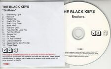 THE BLACK KEYS Brothers 2010 UK watermarked & numbered 15-track promo test CD