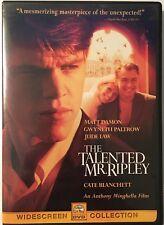 The Talented Mr. Ripley Dvd 2000 Widescreen Matt Damon