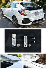 SILVER Rear Wing Spoiler Roof Riser Extensions For 16-Up Honda Civic Hatchback