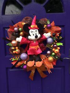 Minnie Mouse Halloween Disney Inspired Wreath