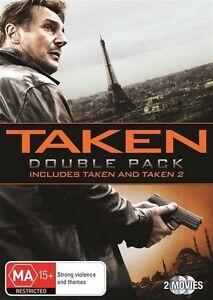 Taken + Taken 2 DVD DOUBLE MOVIE - Australian Region 4