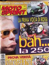 Motosprint 46 1997 Valentino Rossi prima volta in 250 - Test Suzuki GSX-R 750