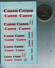 decals decalcomanie logo pour canon  divers  1/43
