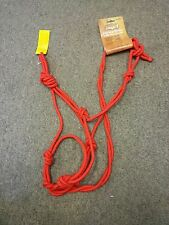 RED JT TOUGH-1 ROPE HALTER WITH TWIST CROWN AND NOSE WITH KNOTS  HORSE TACK