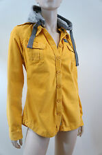 SUPERDRY Yellow & Grey Removable Hood Cotton Lightweight Casual Jacket M BNWT