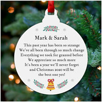 Lockdown 2020 PERSONALISED Christmas Decoration Family Mum Dad Friends Bauble