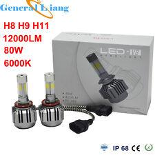 V8 H8 H9 H11 80W 6000K 12000LM Car LED Turbo Headlight Kits Driving Lamps Blub