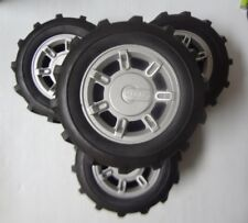 Set of 4 Pcs Hummer RC Car Tires & Wheel 1cm Hex  -26