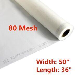 1 Yard 80 Mesh Silk Screen Mesh Fabric 32T Monofilament Polyester Fabric