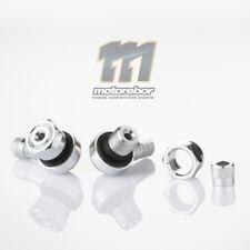 Silver 11.3mm CNC Aluminium 90 Degree Motorcycle Car Wheel Rim Tyre Valve Stems