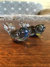 Two Vintage Art Glass Murano Style Moor Goldfish Aquarium Figurine