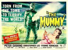"THE MUMMY 1959 repro UK quad poster 30x40"" Hammer Horror Peter Cushing FREE P&P"