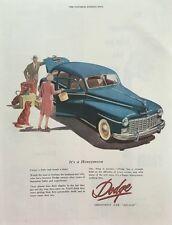 1947 Dodge Honeymoon Dog - 11x14 Vintage Advertisement Print Car Ad LG51