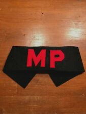 WWI British Amy MP Military Police Armband Brassard Narrow Red letters