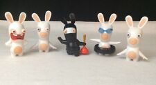 Lot Of 5 McDonald's Happy Meal Toys~ Rayman Rabbids Rabbits Action Figures Loose