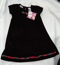 Blueberi Boulevard Girls Sz 3T Black Velvet Party Dress Holiday  Scottie Bow