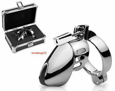 Chastity Head Cage - 100% Steel with Lock, Key & Box/Travel Case (Brand New)