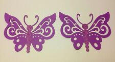 """Set of  6  BUTTERFLIES with Glitter DIE CUTS 3"""" H #6940"""