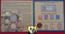 1952 2002 THE QUEEN'S DIAMOND JUBILEE MEDAGLIA BANCONOTA francobolli collezione confezione CARTELLA