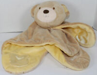 Carters Baby TAN TEDDY BEAR LOVEY MAT Flat SECURITY BLANKET Plush Baby Toy CUTE