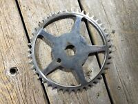 VINTAGE ANTIQUE BIKE BICYCLE CHAINRING 44T ROLLFAST HOPALONG CASSIDY ONE PIECE