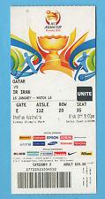 Orig. billet afc-coupe d'asie australie 2015 iran-qatar!!! rare