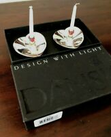 Dansk Candle Holders Denmark Silver Plated Tiny Taper Candlesticks Japan Set 2