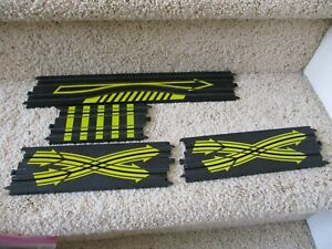 Tyco HO Scale Track  Lot of 4 pieces Yellow Striped