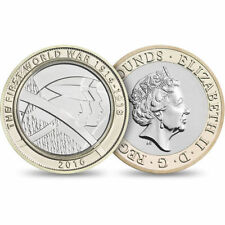 5 x 2016 £2 BRILLIANTLY UNCIRCULATED TWO POUND RARE 2 (a)
