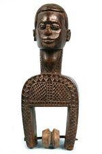 Art Africain -  Imposante Poulie de Métier à Tisser Bété - Pièce Usuelle - 22Cms